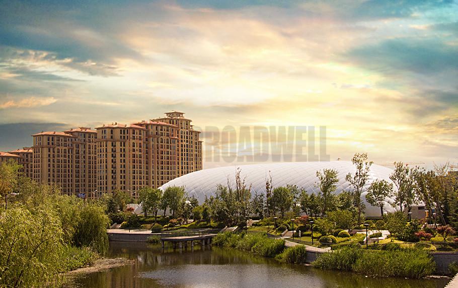 Qingdao Jinshui Movement Dome Location: Qingdao Licang District, China