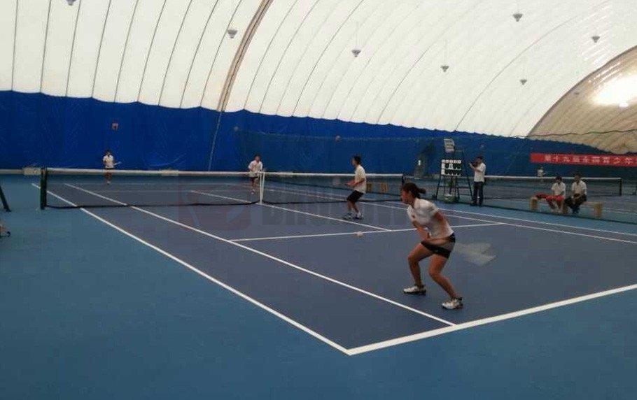 Shandong Badminton Hall Location: Shandong Weifang Xiashan, China