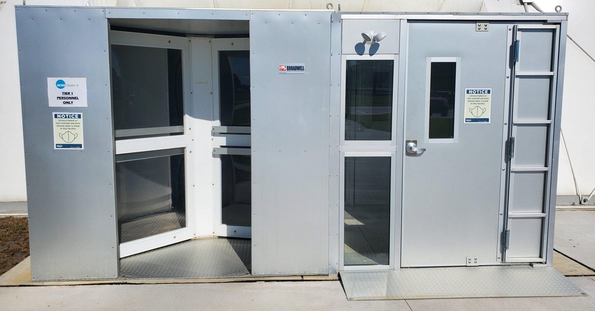 air dome revolving door and handicap air lock