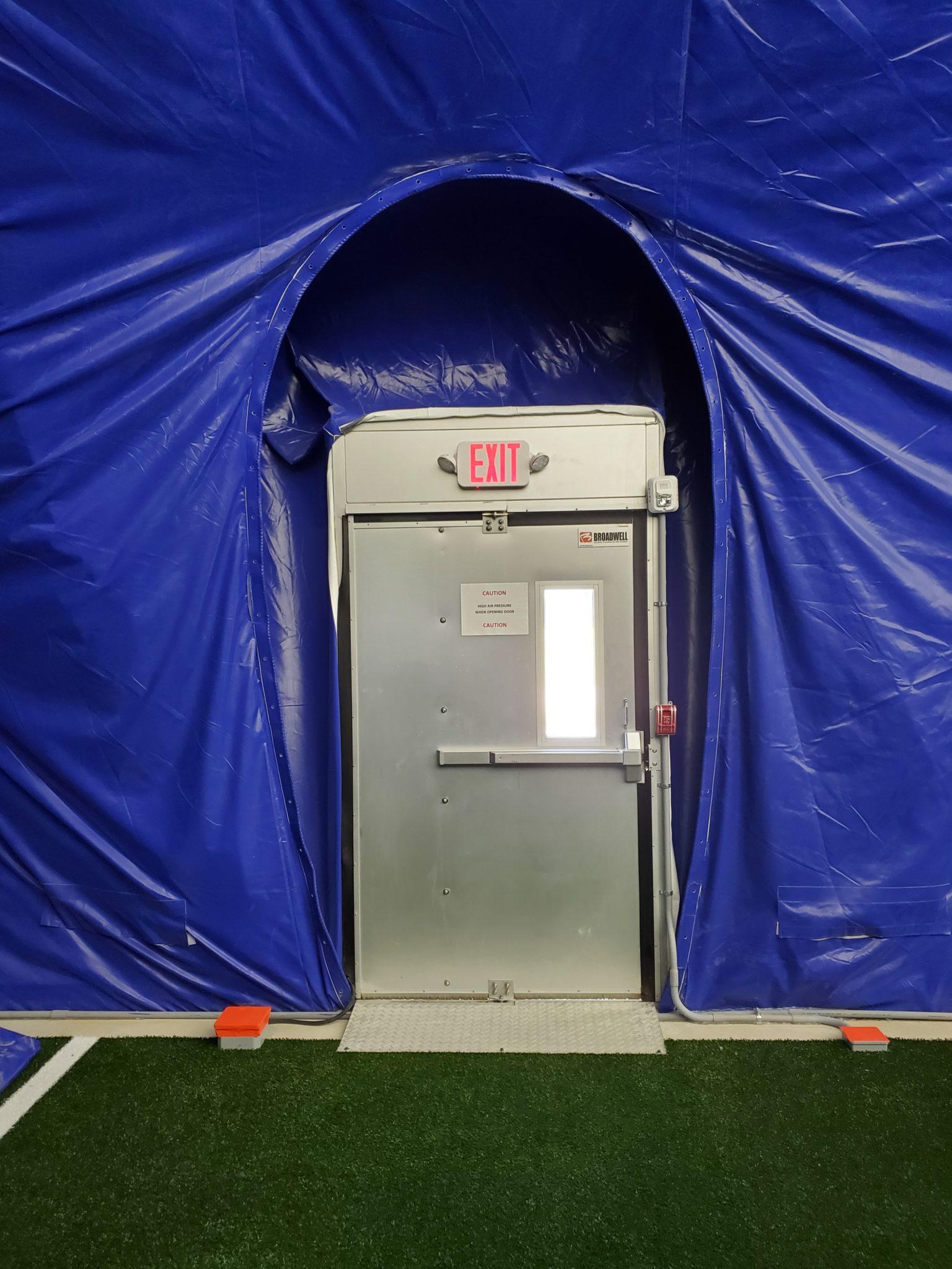 air dome emergency exit door