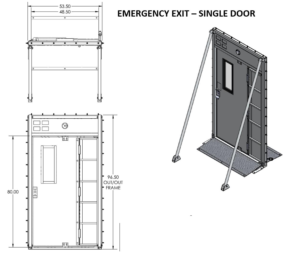 air dome emergency exit door design