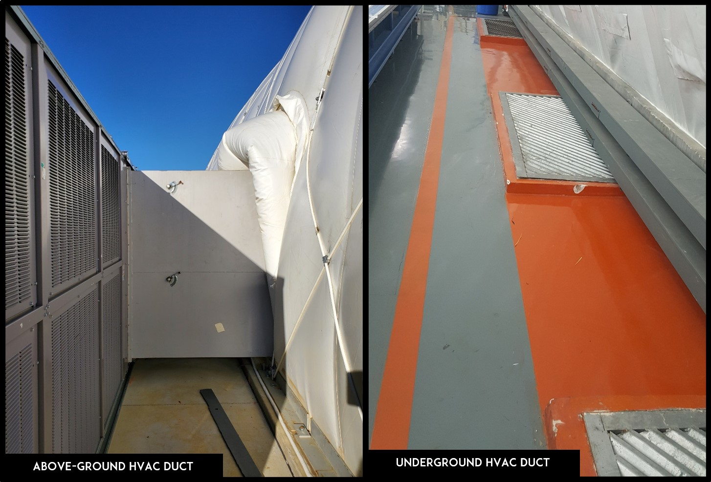hvac duct - above and under