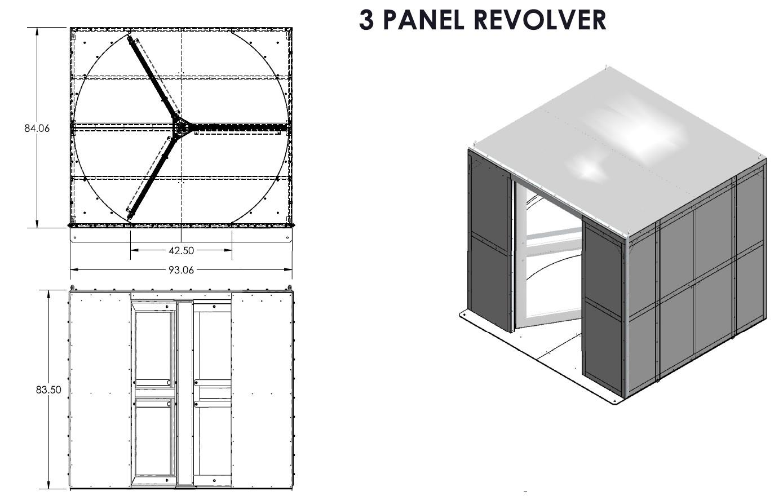 air dome revolving door